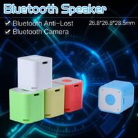 Cheap Square Smart Box Mini Portable Selfie Bluetooth Speaker Soundbox +Self-time Remote Shutter For Smart Phone iPhone 6 Samsung Galaxy S6 S6 Edg