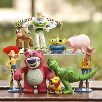 Wholesale hot NEW set cm Toy Story Buzz Lighter Woody Jessie action Figures PVC Action Figure Model toys Christmas gift toy