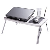 plastic folding table - Adjustable Portable Laptop USB Folding Table Laptop Desk with Cooling Fans Mouse Pad School Furniture