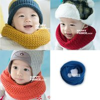 Wholesale Retail Cheap Candy Color Kids Baby Boys Girls Warm Wool Snood Scarf Neckerchief Scarves Y