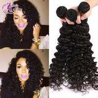 Wholesale Peruvian Brazilian Hair Human Virgin Hair Weaves Extensions Malaysian Indian Virgin Hair Deep Wave Bundles Unprocessed A Best Quality