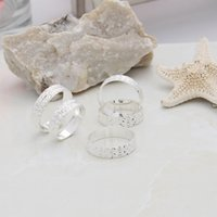 Wholesale 5Pcs Bag Fashion Jewelry Silver Plated Rings Vintage Men Women Unisex Band Rings YBLH1