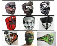 bicycle full face helmet - 9 Styles Designed Skull Motorcycle Full Face Mask Cool Outdoor Cycling Bicycle Bike Ski Snowboard Motorcycle CS Face Masks Helmets Retail