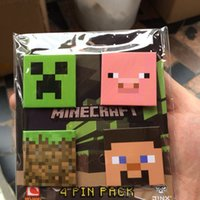 button badge - 4pcs set Fashion Minecraft Brooch Pins MC My World Breastpins Button Pin Badge Party Gifts Kids Toys