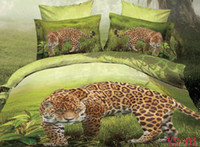 leopard print bedding - 3D Leopard Printing Bedding Sets Comforter Set Cotton Fabric Duvet Covers Pillow Cases Flat Bed Sheet Home Textiles Six In A Bag