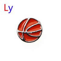 basketball gift baskets - Fashionable red Basketball Floating Charm Basket Ball Locket Charm Memory Locket Charm best gifts MFC063