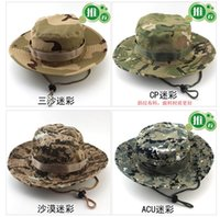 Wholesale Fashion Foldable Boonie Round Hat Camouflage Jungle Cap Camping Mountaineering Outdoor Fishing Hat Summer Bucket Hat Both For Men And Women