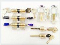 Wholesale 7pcs set Cutaway Visable Lock Practice Padlock for Locksmith