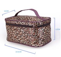 Wholesale 10cps Fashion cosmetic bag leopard grain bag travel toiletry bags high capacity portable receive package