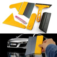 Wholesale Car Window Light Lamp Scraper Wrapping Tint Vinyl Film Squeegee Cleaning Tools For shipping