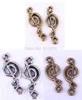 music charm pendant - OMH Antique Silver Gold Bronze Zinc Alloy Music Note Symbol Charms Pendants Hot sale Free ship