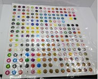 Wholesale 330pcs Cartoon Rubber Home Button Sticker for iPhone s G S ipad AE01196