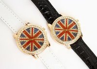 american flag glass - New Arrival Fashion Watches Quartz Watches Rhinestone Watches American Flag Pattern Watches For Women Dress Hot Sale