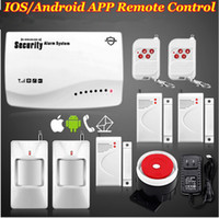 Wholesale New Smart IOS Android APP MHz Wireless SMS GSM home PIR alarm Secure system with built in Battery F intercom Security house