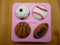 basketball cake mold - Pretty basketball silicone mold chocolate fondant cake mold soap mold kitchen baking decorative accessories