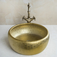 Wholesale Round large bowl bathroom wash hands basin unit set basin and faucet set