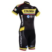 Short colombia - New arrive colombia Pro team Cycling Jersey Bib Short Pants With Gel Pad Ropa de Ciclismo Maillot Bike Wear Cycling Clothing Set