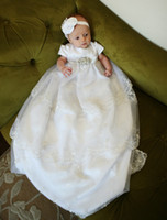 Wholesale Child Clothing New Hot Sale Newborn Baby Girls dresses vintage court Silk Lace Baptism Christening Dress Baby Christening Gowns