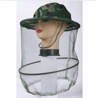 Wholesale 2pcs Mosquito Fly Insect Bee Fishing Mask Face Protect Hat Net Camouflage