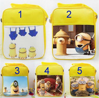 banana snacks - 2015 New Movie minions cut yellow people Banana shoulder bag Orlando cartoon bags To find new owners Snack Handbags Despicable Me