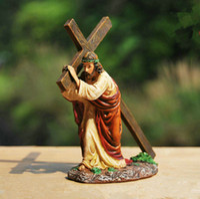 Wholesale Home Decoration Cross Decoration Resin Crafts Crucifix Church Jesus Christ Ornaments Christian Catholic Gifts