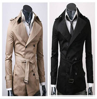 Wholesale Fashion Brand Trench Coat Men Europe America Style Double Breasted Mens Coats And Jackets color Size M XXL new arrive dorp ship