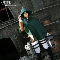 attack music - Halloween Costume SNK Anime Attack on Titan Shingeki no Kyojin Clothes Eren Levi Scouting Legion Top Cosplay Cloak Cape Coat