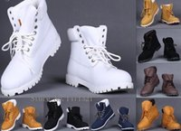 Cheap Leisure Ankle Boots Winter White Snow Boots Brand Men Women Genuine Leather Waterproof Outdoor Boots Cow Leather Hiking Shoes Leisure Ankle