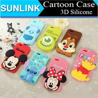 Wholesale for iPhone6 D Cartoon Silicone Case Mickey Minnie Mouse Winnie the Pooh Stitch Sulley Mike Design Back Cover for iPhone Plus Inch
