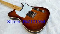 Wholesale Hot TL Electric Guitar gold parts china New Arrival Custom Shop strings yellowish neck