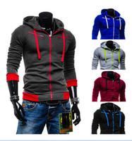 Wholesale 2016 Hot Sale Men s Hooded With Hat Fleece Cardigan Long Sleeve Hoodie Coat Jacket Overcoat Clothes color size M XL