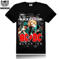 acdc black ice - Black ice Tour Men s Round Collar T shirt Brand D Printing ACDC Men Casual Short Sleeve Free Shipopoing HA
