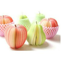 apple bookmarks - Fruit Design Post It Notes Bookmark Notepad Folding Apple Memo Sticky Notes Office Supplies Korea Creative Fruit Notes Series