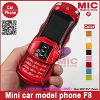 Wholesale Russian keyboard Dual SIM Card slider low price small size mini sport cool supercar car key cell mobile phones cellphone F8 P54