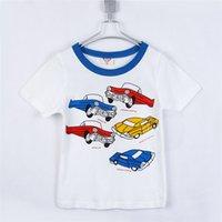 Precio de Coche de camisetas al por mayor-Venta al por mayor a 2015 niños de coche de verano ropa niñas carta bebé de la ropa de manga corta T-shirt B0306