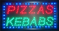 pizza sign - 2015 Ultra Bright LED Neon Light Animated Neon PIZZAS KEBABS Sign led PIZZAS KEBABS sign billboard indoor size inch