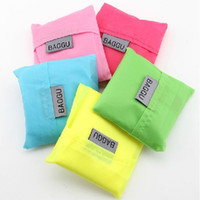 Wholesale 2015 New Candy color Japan Baggu Reusable Eco Friendly Shopping Tote Bag pouch Environment Safe Go Green Fashion Hot