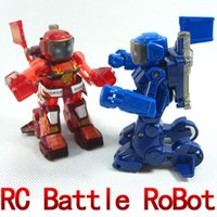 Wholesale free shiping remote radio control battle fighting RC robot novelty toys gifts pair new technique high quality