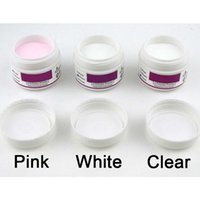 acrylic nails pink tips - Hot X ACRYLIC POWDER For NAILS ARTS False Tips Tools Set WHITE CLEAR PINK Crystal Nail Polymer DIY Manicure Builder
