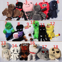 Wholesale Minecraft Styles Minecraft Soft Stuffed Plush Toys Zombie Skeleton Spider Bat Craft Wolf Ghast Enderman Cow cm