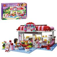 Wholesale Bela Friends blocks for girls City Park Cafe Building Blocks bricks education DIY toys kids baby Gift T cheap HX