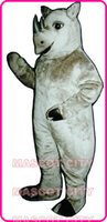 Afrique Animaux sauvages Mascotte Mascota Fancy Dress Custom Made réaliste Rhinoceros Rhino costume de mascotte Taille adulte Costume Fit 1185