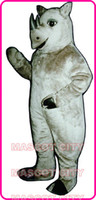 athletic fancy dress - Custom Made Realistic Rhinoceros Rhino Mascot Costume Adult Size Africa Wild Animals Mascotte Mascota Fancy Dress Suit Fit