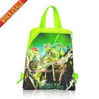 Backpacks backpacks school supplies - 12pcs Teenage Mutant Ninja Turtles TMNT Children Drawstring Backpacks School Bags Kids Party Bags Birtyday in Event Party Supplies