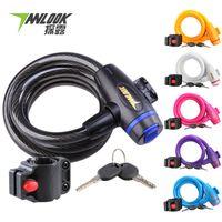 Wholesale bicycle lock anti theft steel lock bicycle accessories equipment