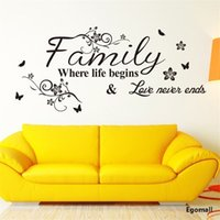 Wholesale 5pcs DIY Wall Stickers Family Fashion Creativity Stickers Home Decor Removable Art Vinyl Wall Sticker Decals Mural Home decoration75 CM