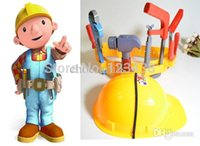 Wholesale Artificial Plastic Kids Engineer Carpenter Tools Belt Safety Cap the Builder Pretend Play Toys for Boys Children