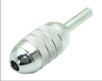 Wholesale High Quality Tattoo Grips mm Stainless Steel Silver Tattoo Grip Tube Tattoo Machines Supply Tattoo Body