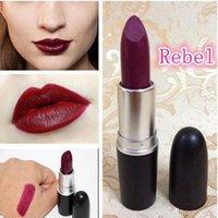 Wholesale 1pcs hot sell famous brand matte lipsticks mc rebel lipstick professional makeup waterproof lip stick cosmetic batom Kh01