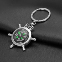Wholesale Fashion Accessories High rudder compass keychain compass Mini compass King ring pocket Outdoor Gadgets Hiking Camping Outdoor Gear